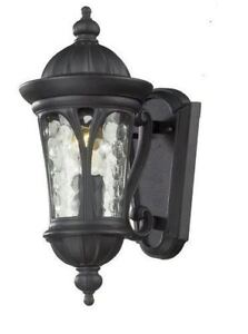 BLACK OUTDOOR SCONCE