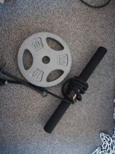 Wrist roller with 10lb weight