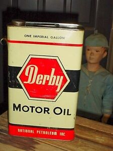 Antique RARE National Derby Motor Oil tin London Ontario image 1