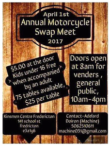 Swap meet next saturday! Get your table booked now!