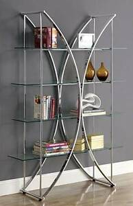 "Etagere 72"" / Glass and Chrome shelf unit, shelves West Island Greater Montréal image 1"
