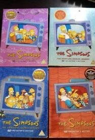 Simpsons Season 2-5 Boxsets Very Good Condition