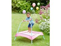Toddler indoor/outdoor trampoline -pink