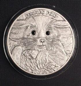 Niue 2013 $2 Fennec Fox Babies Antique Finish 1 oz Silver Coin