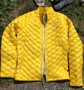 THE NORTH FACE YELLOW THERMOBALL FULLZIP WOMEN'S JACKET