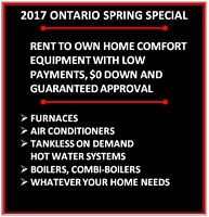 RENT-TO-OWN FURNACES / AC - CHOOSE ONE OF TWO PROGRAMS