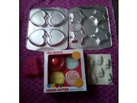 Selection of baking bits and ice tray