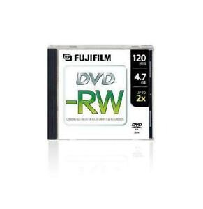 DVD - RW RE WRITABLE FOR VIDEO AND DATA 5 DISC PACK FUJIFILM 4.7GB EACH DISK CAPACITY ON SALE FOR $4.99 TILL STOCK LAST