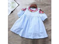 cold shoulder girls dress (international item)