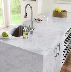 Grey Marble Countertop Vinyl Granite Look Effect Self Adhesive Film