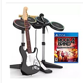 Rock Band 4, full kits 2 Guitars, Drums, Mic