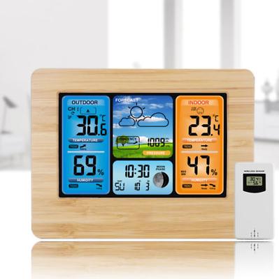 Digital LCD Indoor & Outdoor Wireless Weather Station Clock