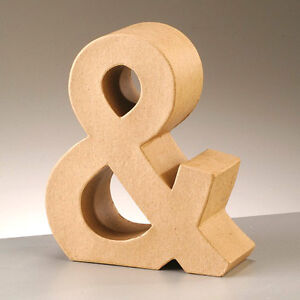 3D-Cardboard-Letter-Ampersand-Sign-Paper-Mache-Craft-Free-Standing-L-S-Size