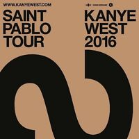 TWO KANYE WEST TICKETS BELL CENTRE (FLOOR SEATS)