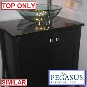"NEW PEGASUS  31"" GRANITE VANITY TOP BLACK COLOUR - WITHOUT BASIN EZ PUNCH FAUCET HOLES BATH BATHROOM COUNTER TOPS"
