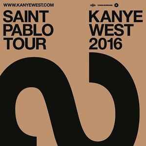 2 KANYE WEST SAINT PABLO TOUR FLOOR TICKETS