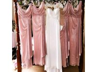 Beautiful bridesmaid dresses can also be used for prom