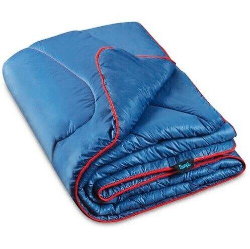 "Rumpl Original Puffy Blanket 50"" x 70"" - Blue - Uline Logo"