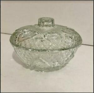 VTG Kig Malaysia Pressed Glass Bowl with Lid