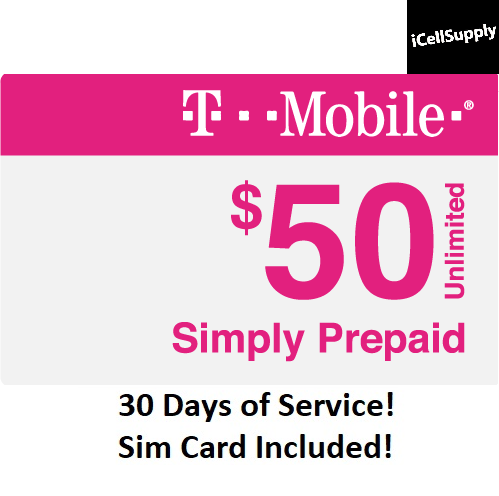 First Month $50 T-Mobile Unlimited 4G LTE Plan in US Preload