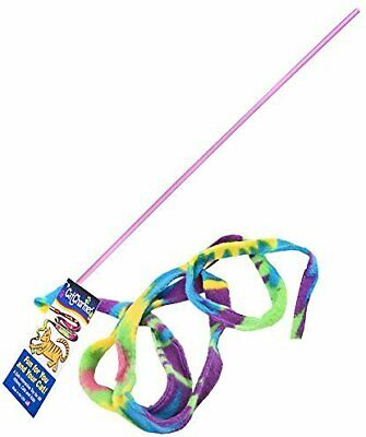 Cat Dancer Cat Charmer Colorful Fabric Ribbon Safe Flexible Exercise Toy Cat Charmer Toy