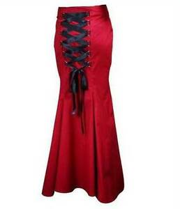 Rockabilly Long Fishtail Corset Skirt Gothic Lace Up Sz 12 Modbury Heights Tea Tree Gully Area Preview