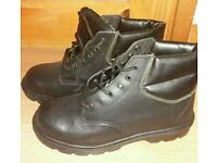 Steel toe cap work boots size 8