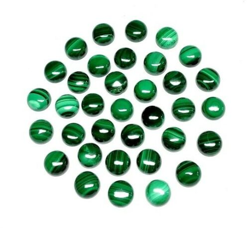 Wholesale Lot Natural Melachite 5X5 mm Round Cabochon Loose Gemstone ST-10