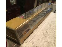 Legend 8 tray illuminated cold food display unit.