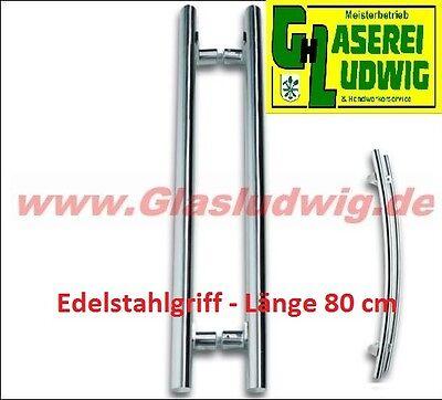 Ganzglastür TÜRGRIFF Edelstahl poliert - Länge 80 cm - NEU - Glasdicke 0 - 12
