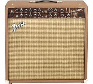 Amplificateur de Guitare acoustique Fender Acoustasonic SFX II avec pédale et cover (usagé)