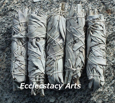 9 White Sage Smudge Stick Wands Herb-House Cleansing Negativity Removal 4 to 5 ""
