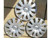 3 genuine Vauxhall Astra J and Zafira C wheel trims