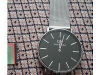 mens daniel wellington watch with stainless steel bracelet
