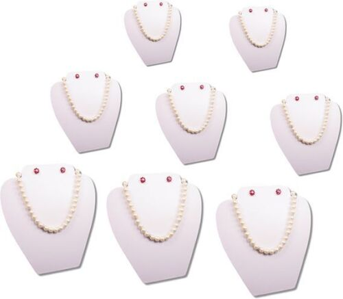 """8Pc SET 8""""H WHITE EASEL NECKLACE EARRING PENDANT CHAIN JEWELRY DISPLAY PJ14W8"""
