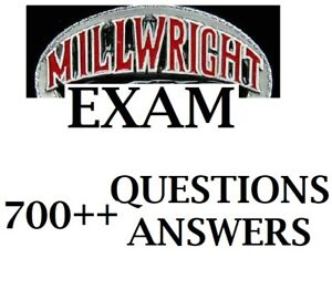 Industrial Mechanic (Millwright)- 433A  exam questions answers