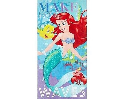 Disney Ariel Little Mermaid 3 Piece Beach Bath Travel Towel 100% Soft Cotton ](Little Mermaid Towel)