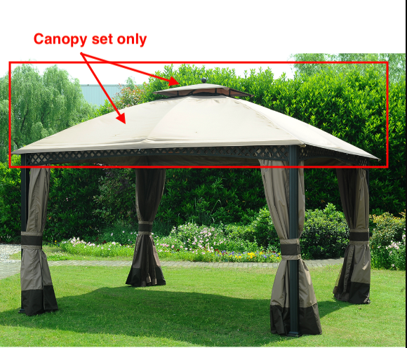 Sunjoy L-GZ747PST-A Canopy set Replacement