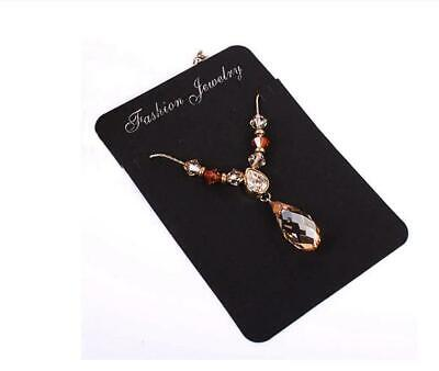 Black Jewelry Display Cards For Retail Necklace Earrings Bracelets