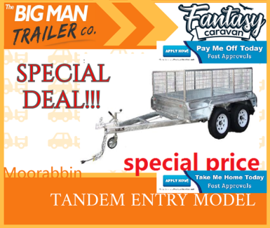 ▬ 8x5 Hot Dipped Galvanised Tandem Box Trailer ▬▬▬▬▬▬ Cage▬ Moorabbin Kingston Area Preview