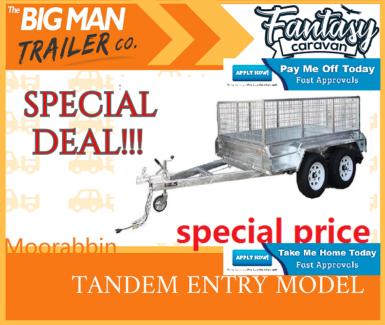 in stock^8x5 Hot Dipped Galvanised Tandem Box Trailer Cage# Moorabbin Kingston Area Preview