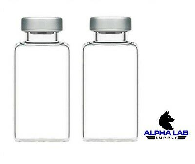 Alpha Lab Supply 20ml Sterile Clear Glass Vials - 3 Pack - Free Shipping