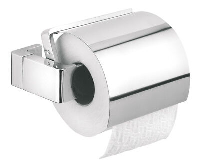 Toilet Certificate Roll Holder With Cover Tiger Ontario Chrome