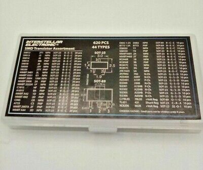 Smd Transistor Assortment 620 Pc. 44 Types For Electronic Projects