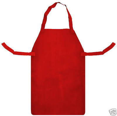 Red Leather Apron for Welders