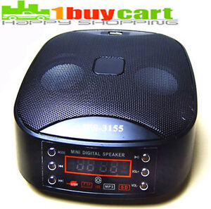 Mini USB Portable FM Radio Speaker Music Player SD TF Card For PC iPod MP3 aun