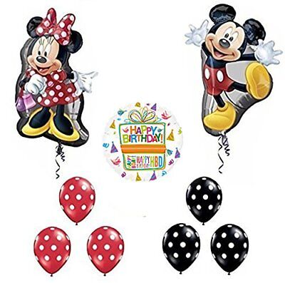Mickey and Minnie Mouse Full Body 1st Birthday Supershape Balloon - Mickey And Minnie Balloons