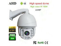 "AHD PTZ Camera for cctv cameras 10X Zoom 4"" AHD 2MP 1080P High Speed Dome IR NIGHT VISION 360"