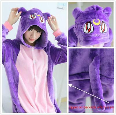 Harajuku sailor Moon Luna Cat Romper adult Anime Animal Kigurumi Pajama Costumes - Romper Adult