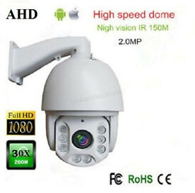 "AHD PTZ Camera for cctv cameras 30 X Zoom 7"" 2MP 1080P High Speed Dome IR NIGHT VISION 360"""